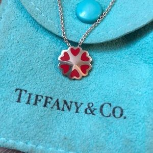 Tiffany and Co. red heart necklace